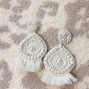 Baublebar White Statement Earrings- Never Worn